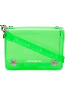 Nana-Nana Bolsa Tiracolo Com Transparência - Neon Green