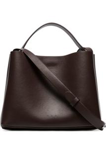 Aesther Ekme Brown Mini Sac Leather Shoulder Bag - Marrom