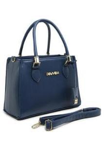 Bolsa Gouveia Costa Tote-Shopper Alça Mão Zíper Feminina - Feminino-Azul Escuro