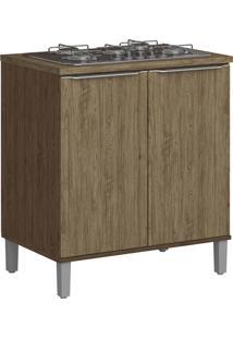 Balcão Para Cooktop Com Pés Decibal Lis 4031P Cedro E Wood