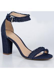 Sandália Feminina Salto Alto Jeans Via Uno 195025