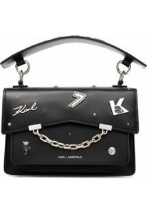 Karl Lagerfeld Bolsa Tiracolo K/Karl Seven - Preto