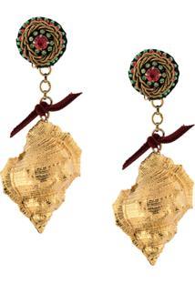 Ranjana Khan Par De Brincos Pendentes - Dourado