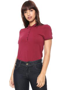 Camisa Polo Dudalina Lisa Bordô - Kanui