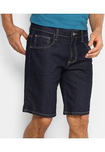 Bermuda Jeans Forum Skinny Super Escura Masculina - Masculino