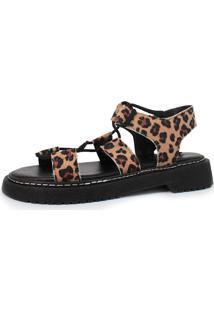 Sandália Damannu Shoes Daisy Napa Onça