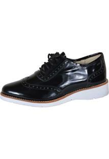 3191bbfb7 ... Sapato Oxford Eagle Black - Feminino-Preto