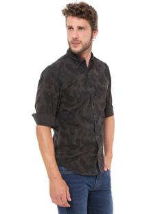 Camisa Jack & Jones Slim Floral Cinza