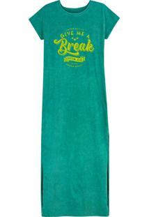 Vestido Verde Longo Marmorizado
