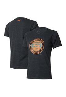 Camiseta Especial Fem. Jeep Round - Preto Mescla