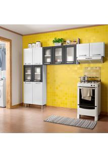 Cozinha Compacta Múltipla 11 Pt Branca E Preta