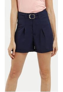 Short Feminino Crepe Clochard Cinto