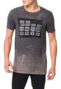 Camiseta Calvin Klein Jeans Estampa Placas Surtom Grafite - Gg