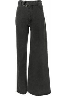 Kseniaschnaider Calça Jeans Assimétrica - Cinza