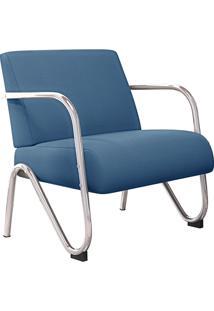 Poltrona Decorativa Sabrina-Mobisul - Azul Marinho