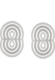 Brinco Narcizza Oval Transpassado - B322(2)
