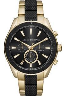 Relógio Armani Exchange Masculino Enzo - Ax1814/1Dn Ax1814/1Dn - Masculino-Preto+Dourado