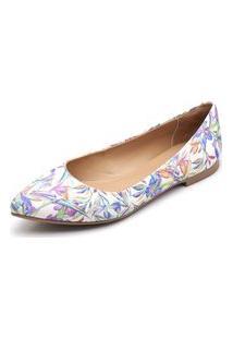 Sapatilha Feminina Bico Fino Top Franca Shoes Floral Jalapao