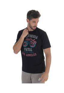 Camiseta Fatal Estampada 17769 - Masculina - Preto