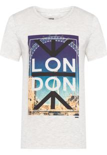 Camiseta Masculina London - Cinza Claro