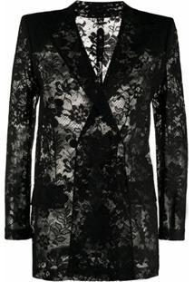 Givenchy Jaqueta Com Abotoamento Duplo - Preto