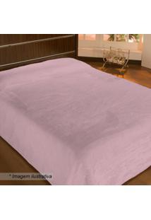 Cobertor Velour Solteiro- Rosãª- 150X200Cm- 300 Fcamesa