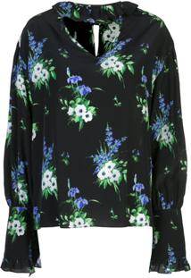 Les Reveries Blusa Com Estampa Floral - Preto