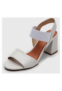 Sandália Bottero Elástico Off-White