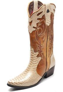 Bota Country Bico Fino Top Franca Shoes Dourado