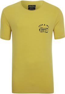 Camiseta Especial Jeep E Wsl Wrangler Trip Lavada Amarela
