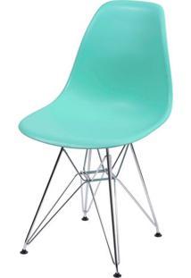 Cadeira Eames Polipropileno Verde Tifanny Cromada - 35834 Sun House