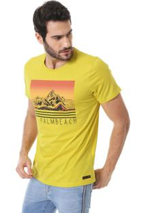 Camiseta Colcci Palm Beach Amarela