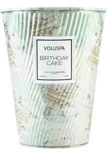 Vela Birthday Cake Macaron Collection Cone Textura 2 Pávios 80 Horas Voluspa