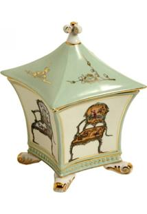Porta-Joias De Porcelana Decorativo Chinese Chair - Unissex