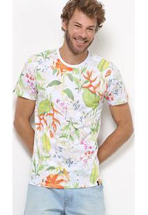 Camiseta All Free Floral Masculina - Masculino
