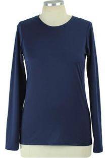 Blusa Salis Inverno Térmica Feminina - Feminino-Azul Escuro