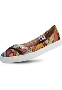 Sapatilha Usthemp Womanly Vegano Casual Art Fire Fury Multicolorido