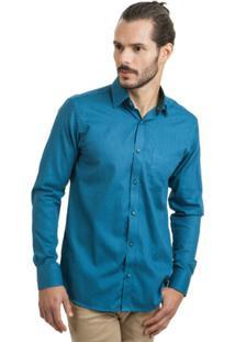 Camisa Di Sotti Estampada Azul - Masculino
