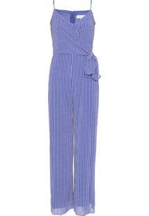 Macacão Michael Kors Rail Stripe Tie Azul