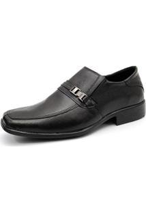 Sapato Social Em Couro Fivela Garra 501 Masculino - Masculino-Preto