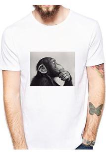 Camiseta Coolest Macaco Masculina - Masculino-Branco