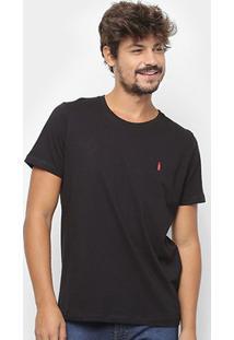 Camiseta Coca-Cola Estampa Garrafa Masculina - Masculino-Preto
