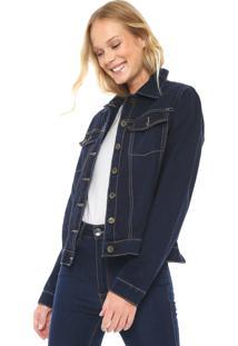 Jaqueta Jeans My Favorite Thing(S) Pesponto Azul