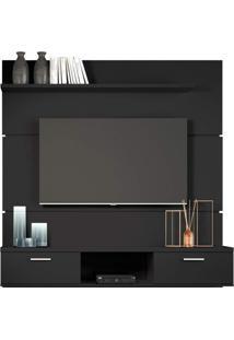 Painel Bancada Suspensa Para Tv Até 55 Pol. Flat 1.6 Preto - Hb Móveis