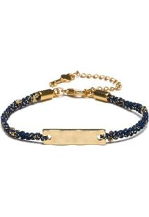 Pulseira Key Design Diana Gold Feminina - Feminino-Azul