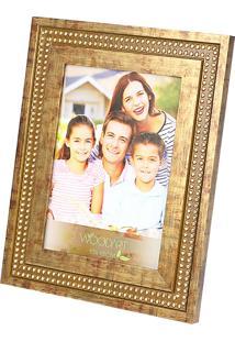 Porta Retrato Strass 10X15 - Woodart - Marrom