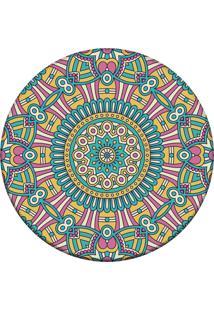 Tapete Love Decor Redondo Wevans Mandala For Multicolorido 84Cm
