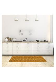 Tapete De Cozinha Mdecore Abstrato Marrom 40X120Cm
