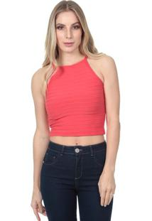 Blusa Lisa Com Pespontos- Vermelhajavali