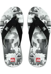 Chinelo Quiksilver Quilted Crush Cinza/Branco